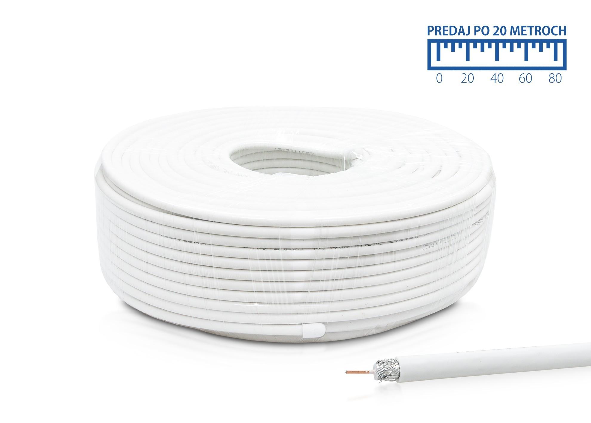 Kábel koaxiál AB RG6 metrážovaný