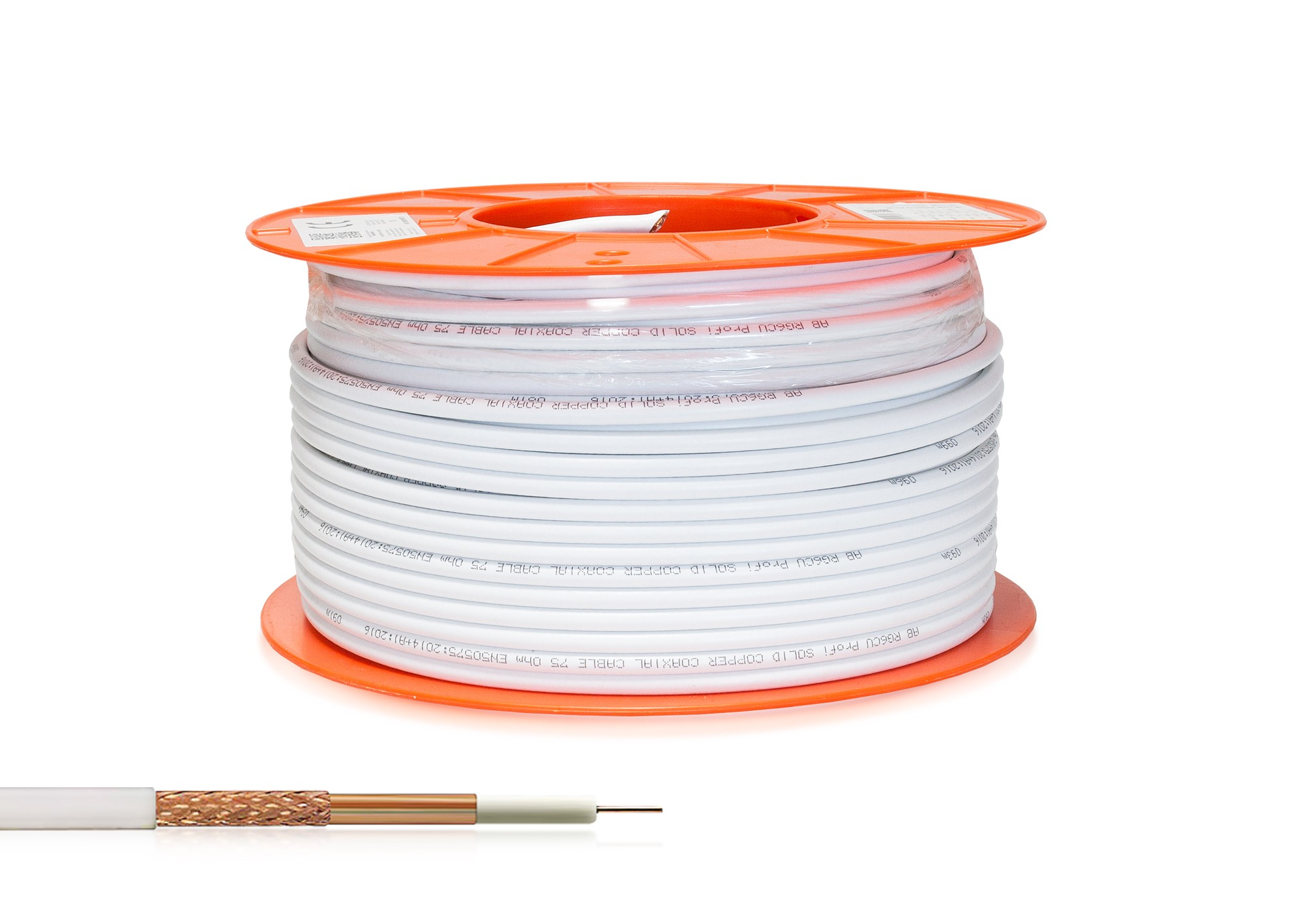 Kábel koaxiál AB RG6CU Profi 100m roll