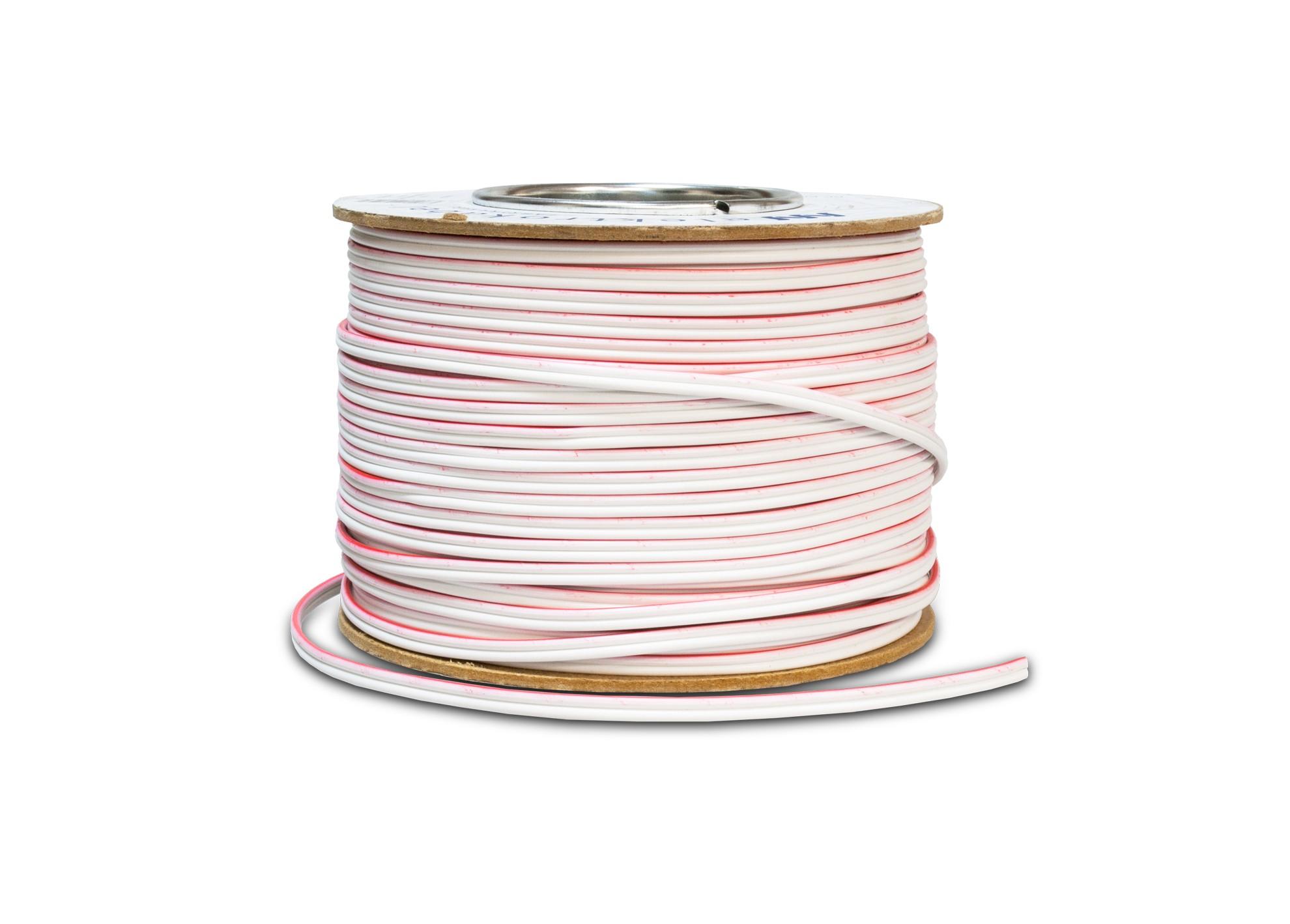Kábel dvojlinka 2 x 1mm biely
