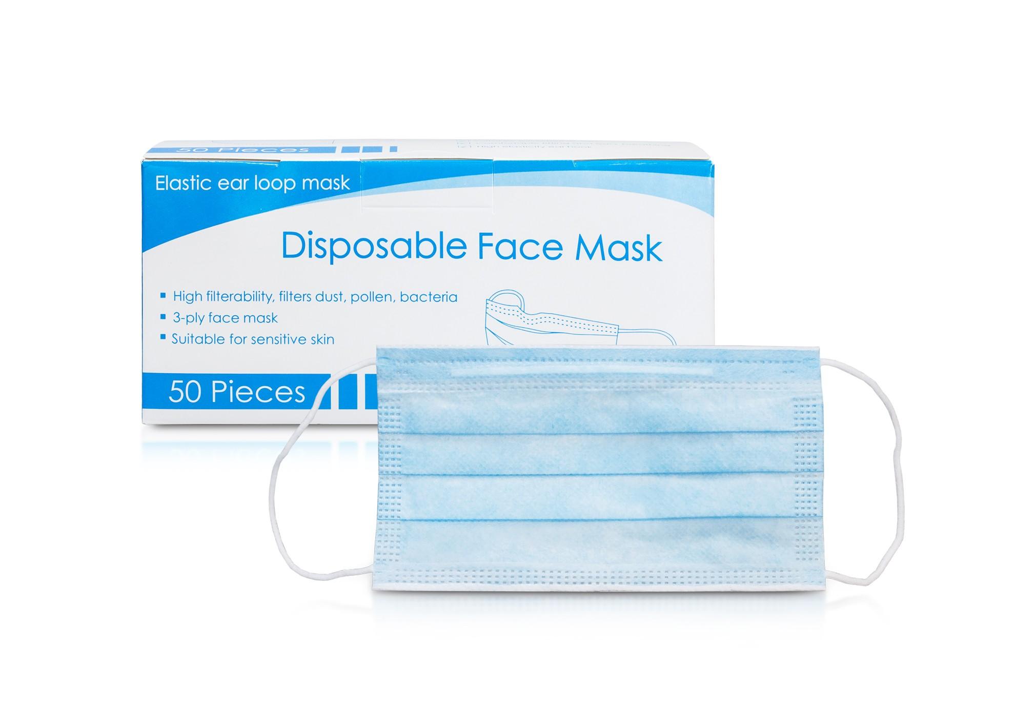 Maska / Rúško 3 vrstvy, jednorázová (min. 50ks) v2