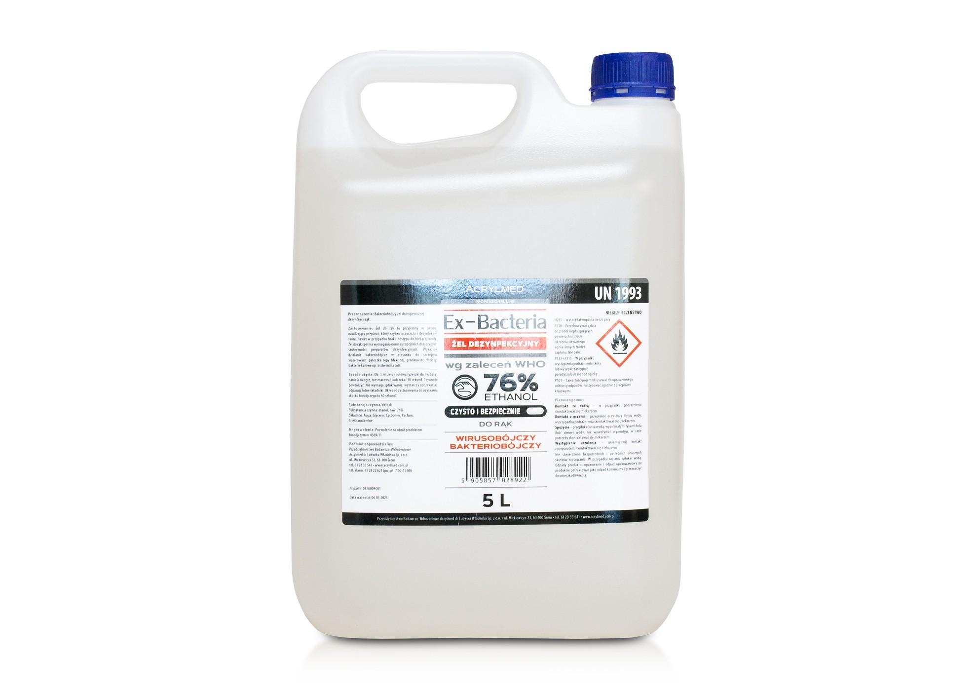 Antibakteriálny gél ACRYLMED EX-BACTERIA  5l