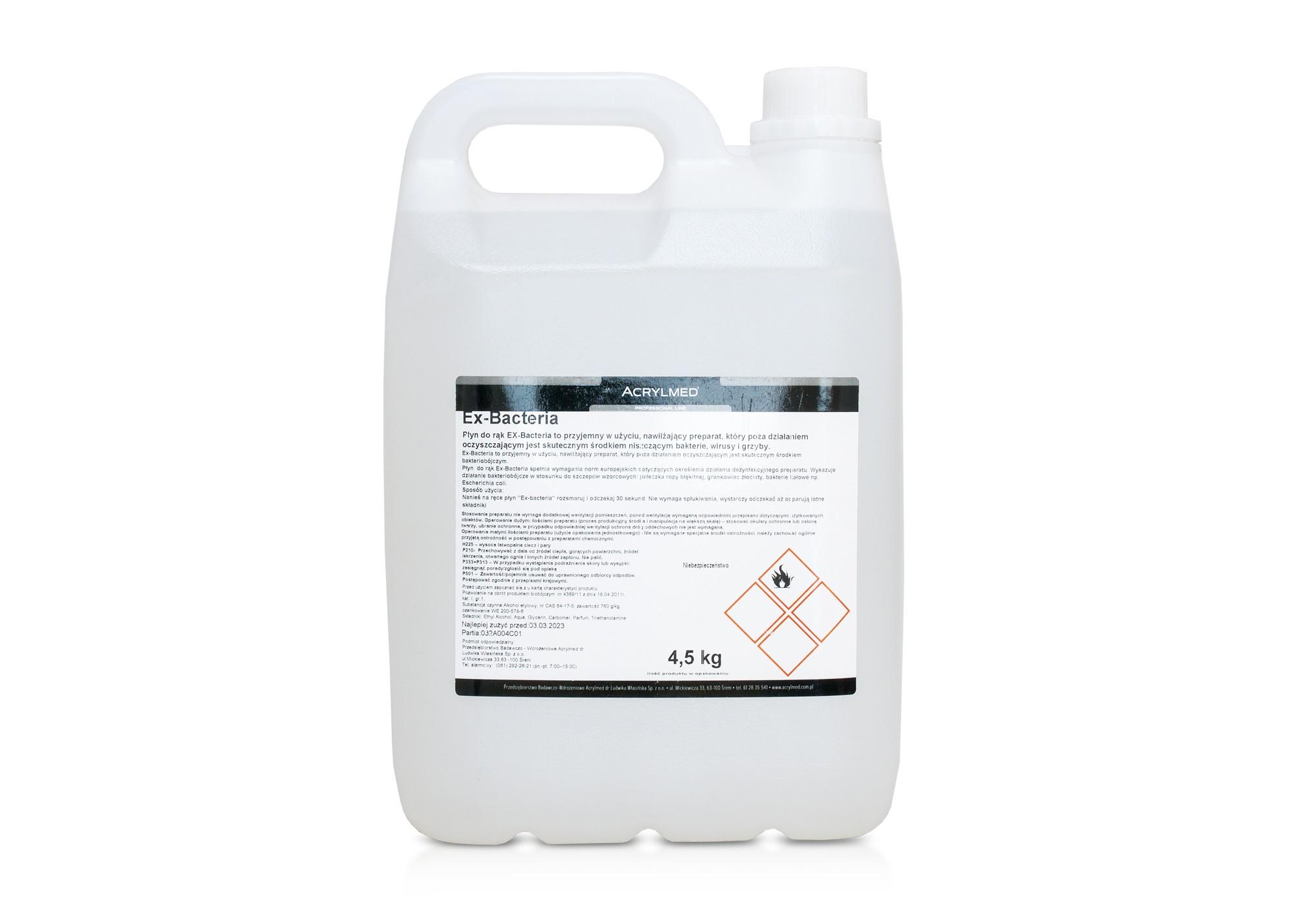 Antibakteriálna dezinfekcia EX-BACTERIA  5l