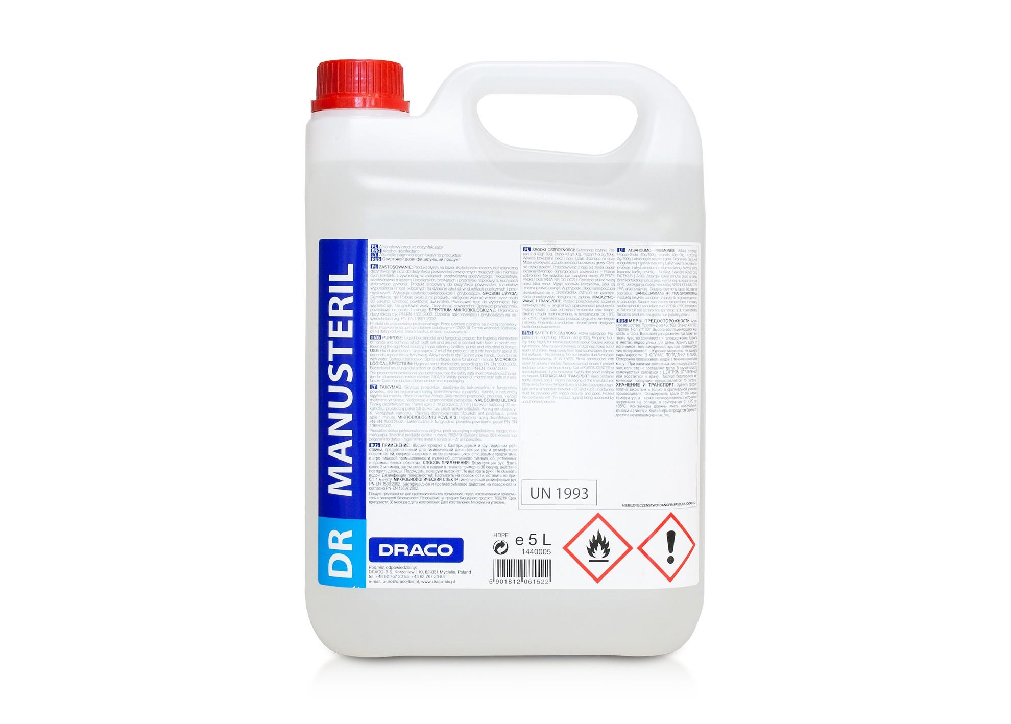 Antibakteriálna dezinfekcia DR MANUSteril 5l