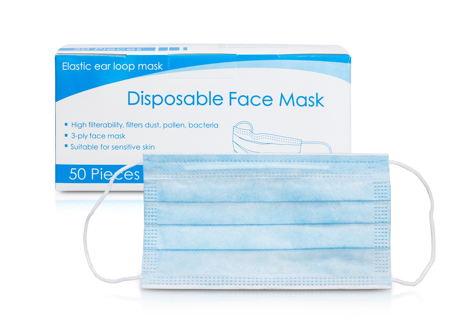 Maska / Rúško 3 vrstvy, balenie 50ks, v2