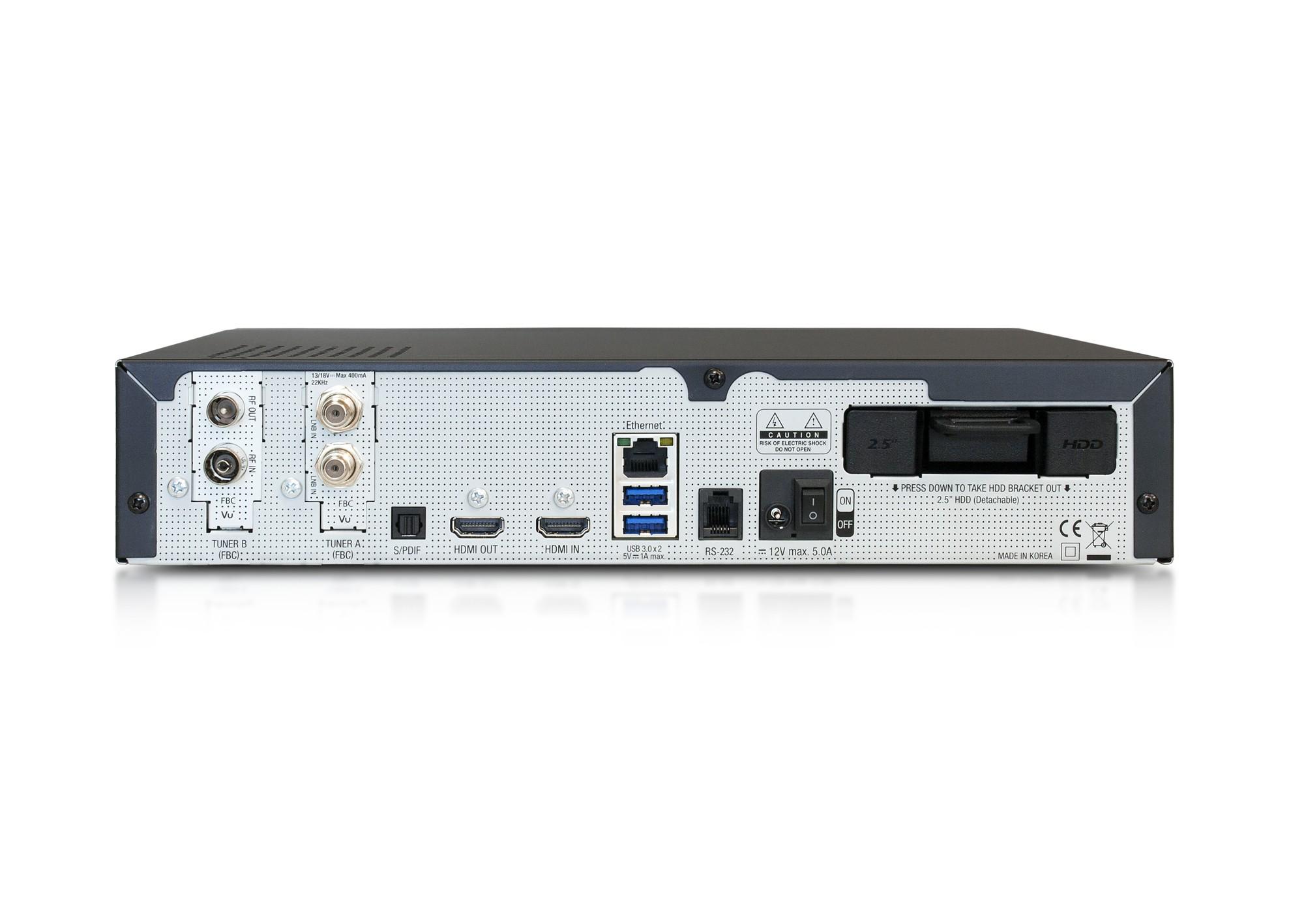 VU+ DUO 4K SE (1x Dual FBC S2X + 1x FBC C tuner)
