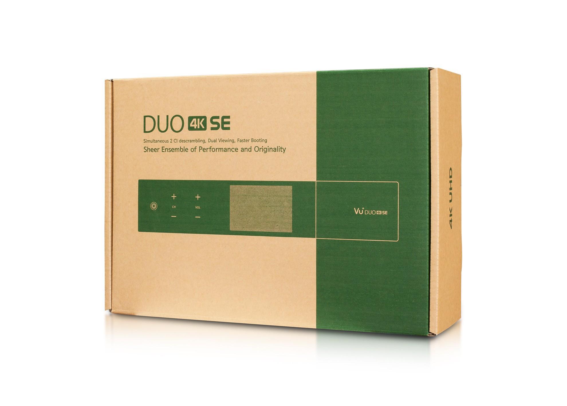 VU+ DUO 4K SE BT edícia (1x Dual FBC S2X tuner)