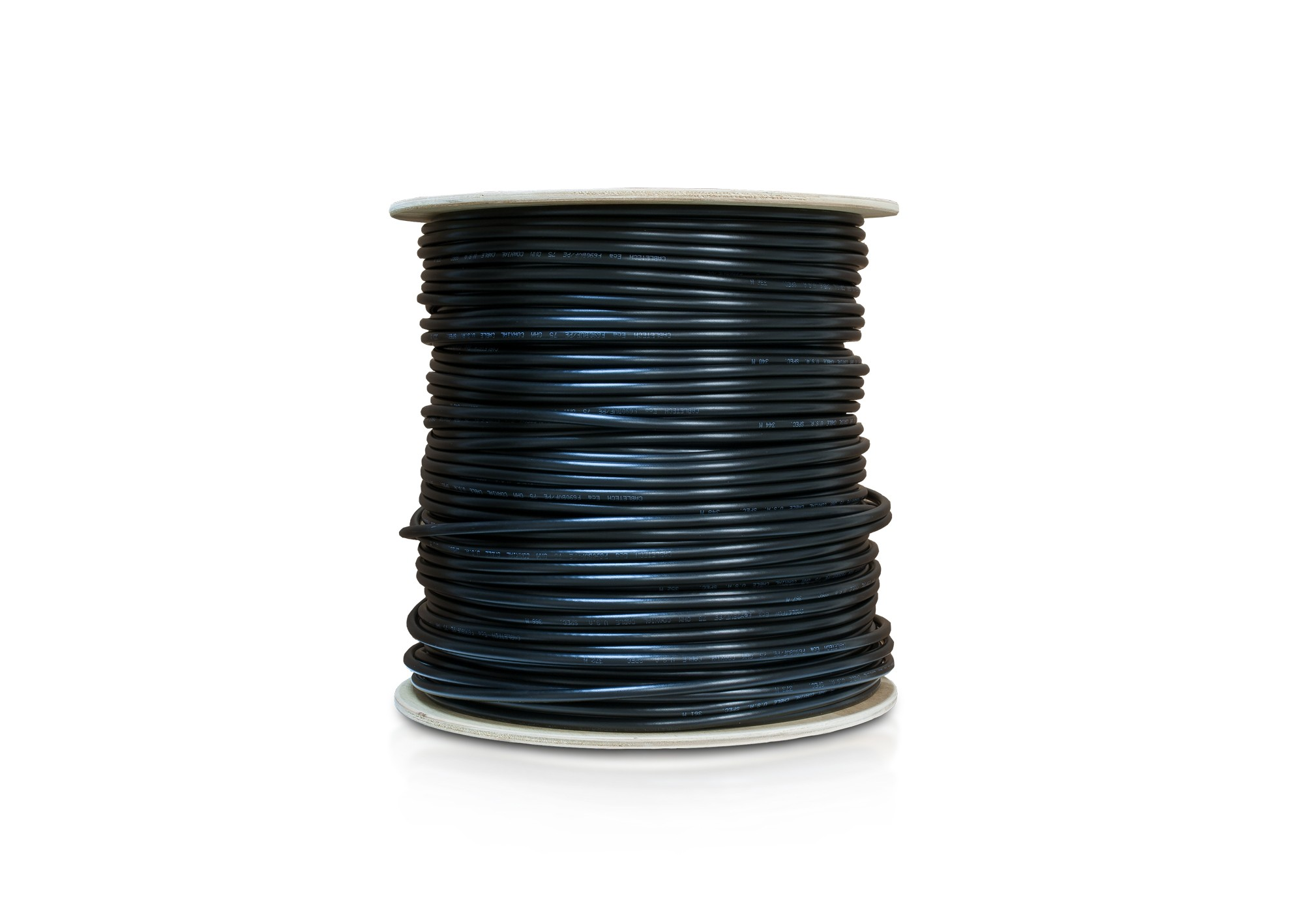 Kábel koaxiál RG6 polyetylén 305m roll čierny