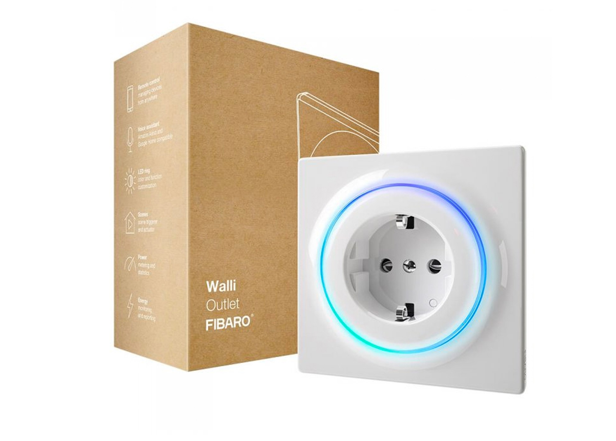 Intelig. zásuvka Fibaro Walli Outlet typ F Z-Wave
