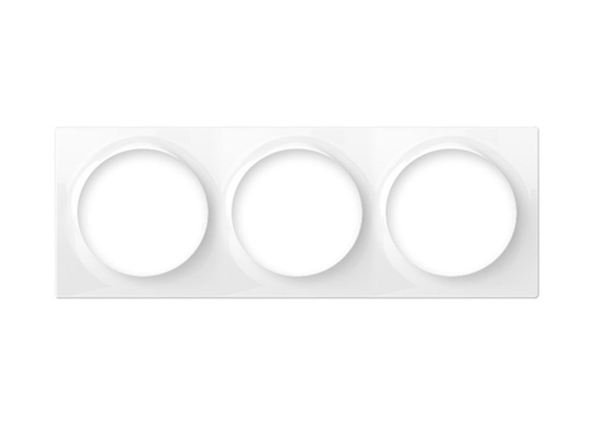 Trojrámik pre vypínače Walli Fibaro Triple Plate