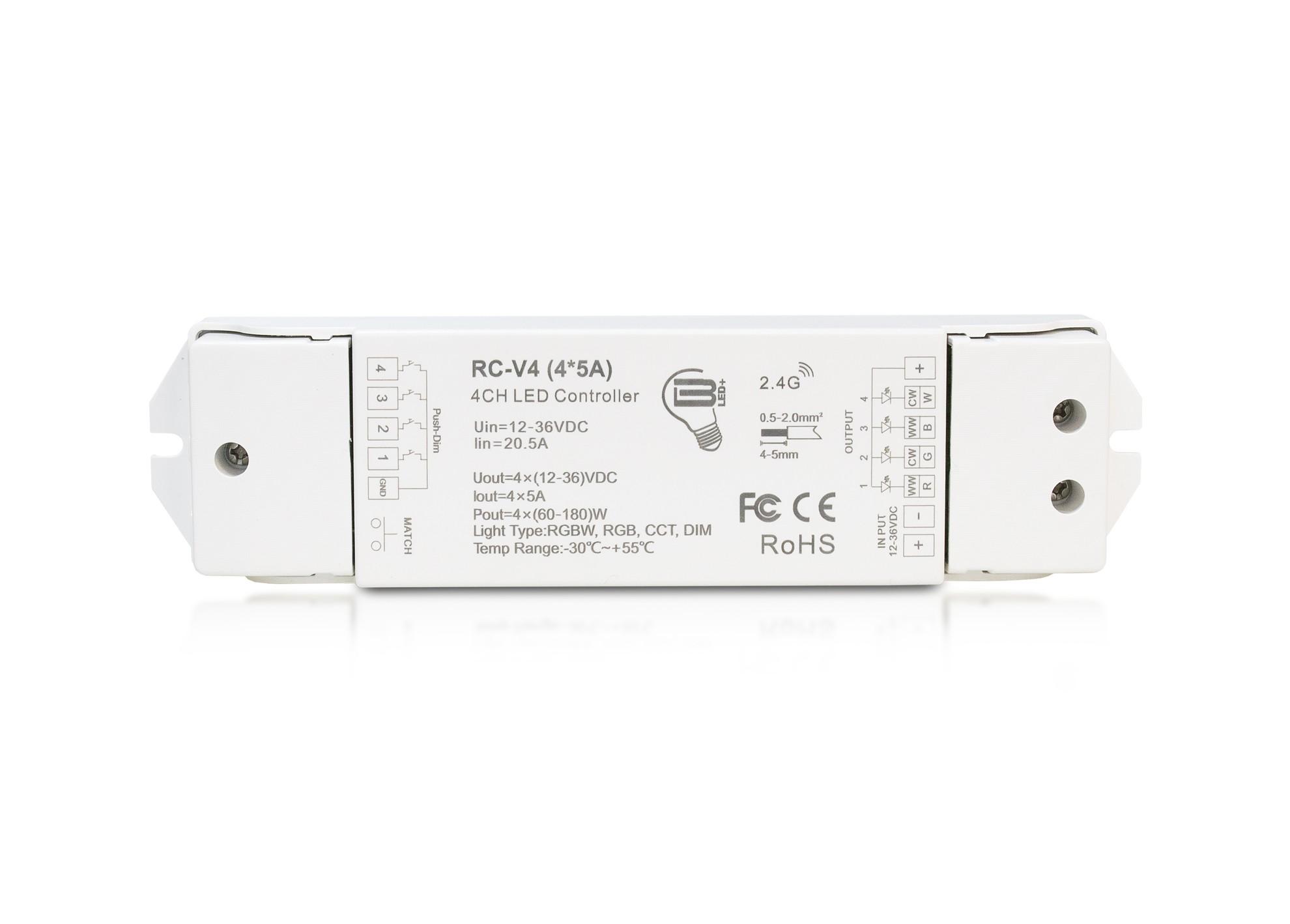 Stmievač RC-V4 (4*5A)
