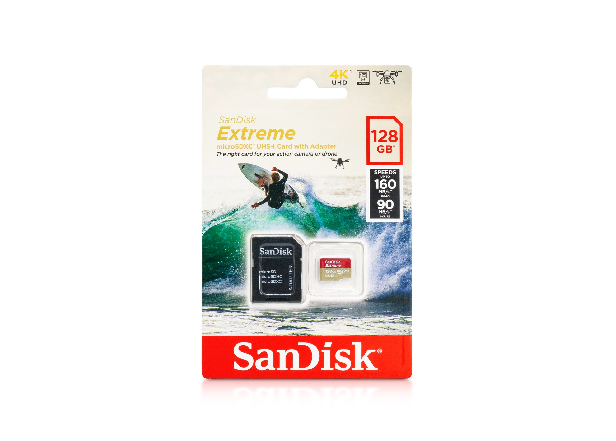 SanDisk Extreme microSDXC 128GB karta + adaptér