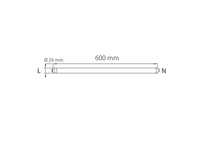 AB LED T60C8 trubica, 8W, 60cm, 850lm, studená