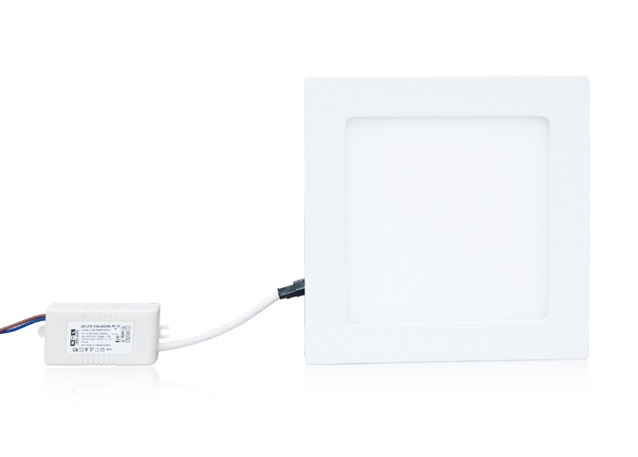 LED panel 12W, štvorec 170 mm, 800 lm, natural
