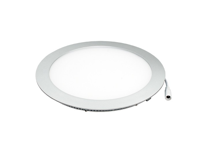 AB LED panel 18W, kruh 240mm,1200lm,natural,silver