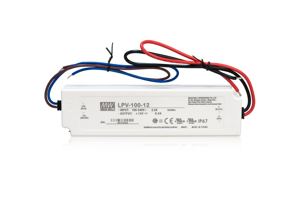 LED PS12V100WIP67 MeanWell napájací zdroj 12V,100W
