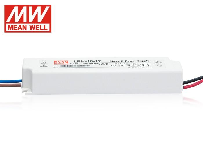 LED PS12V18WIP67 MeanWell nap.zdroj,18W,12V,LPH