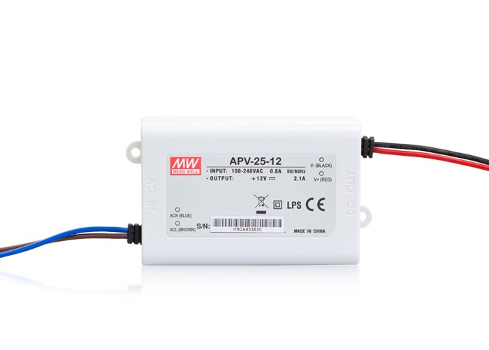 LED PS12V25WIP30 MeanWell nap. zdroj 12V,25W, APV