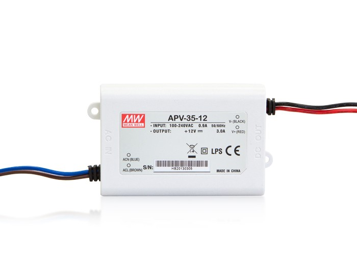 LED PS12V35WIP30 MeanWell nap. zdroj 12V,35W, APV