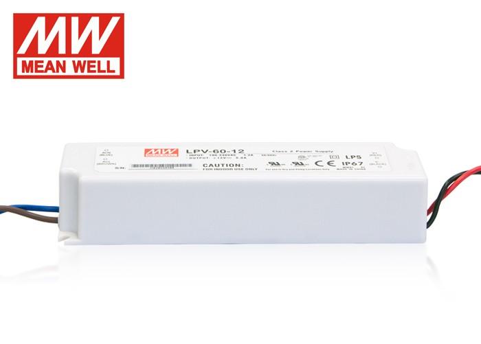 LED PS12V60WIP67 MeanWell nap. zdroj 12V,60W,LPV