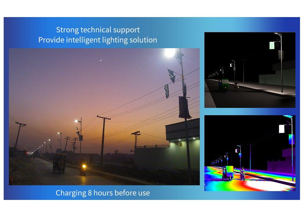LED solárne pouličné svietidlo, 15W, 2250lm