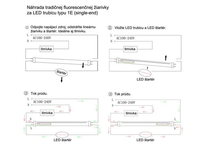 LED trubica T8 60cm, studená biela - 5700K, 855 lm