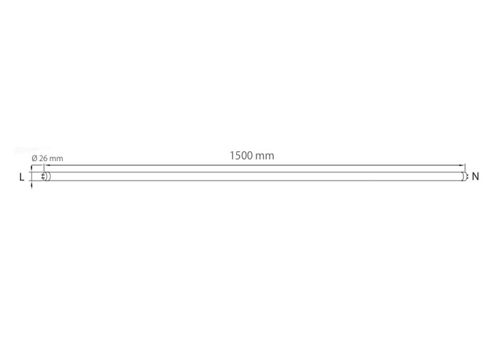 AB LED T150N23 trubica, 23W, 150cm, natural
