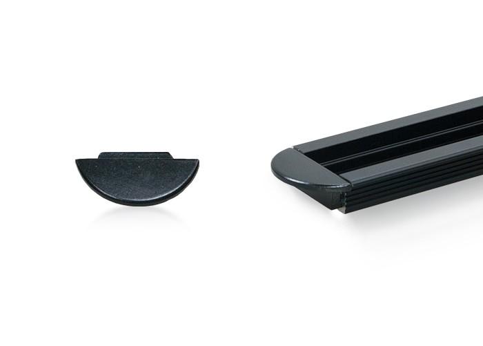 Koncovka K CC03 čierna pre lišty C03