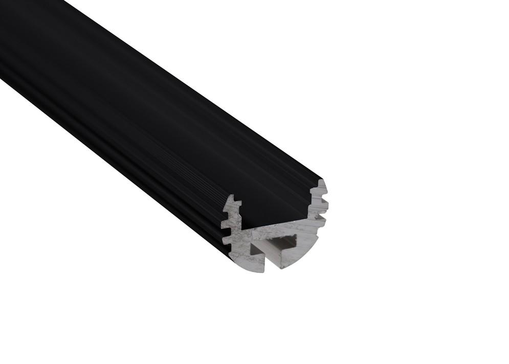 Lišta L CC07 pre LED pásy, čierna, 1m