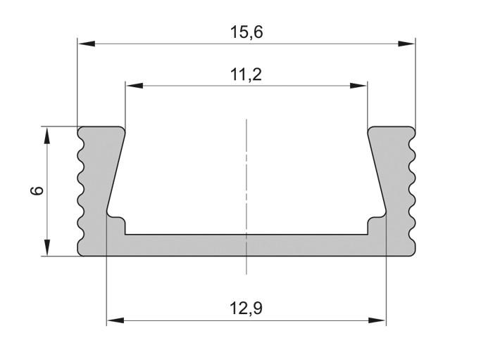 Lišta L BC11 pre LED pásy, bronzová, 1m