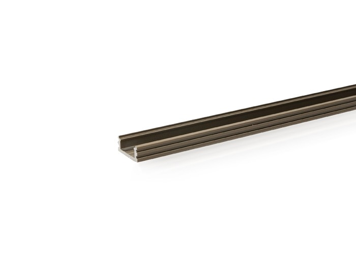 Lišta L BC14 pre LED pásy,bronzová, 1m