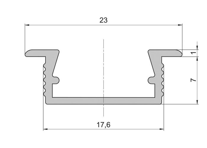 Lišta L CC03 pre LED pásy,čierna,1m