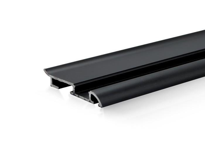 Lišta soklová SCC17 pre LED pásy,čierna,1m