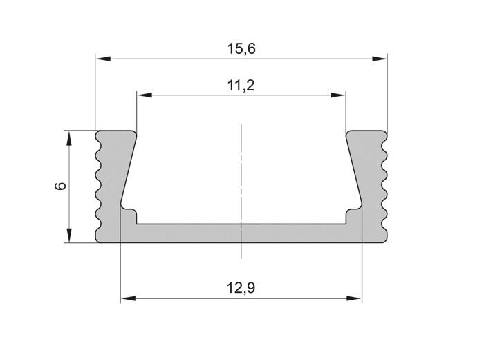 Lišta L XC11 pre LED pásy,strieborná,1m