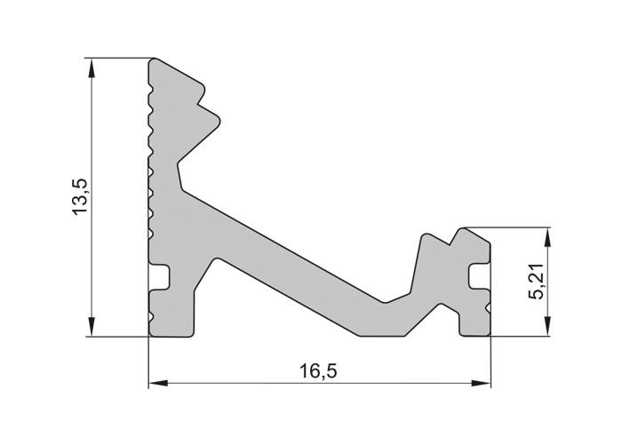 Lišta L XC15 30°/60° pre LED pásy, strieborná,1m