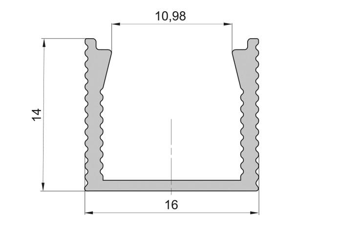 Lišta L XC25 pre LED pásy,strieborná, 1m