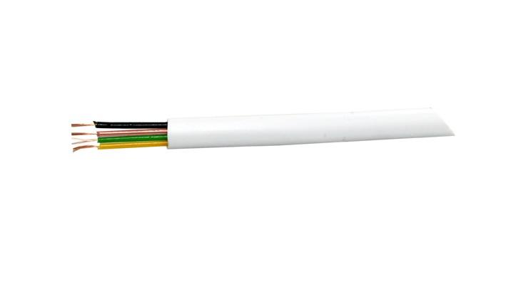 Kábel tel. 4-žilový biely