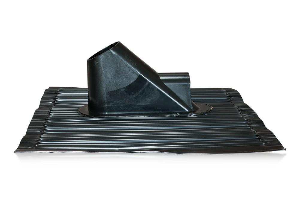 Hliníková prechodová strešná škridla čierna s pre