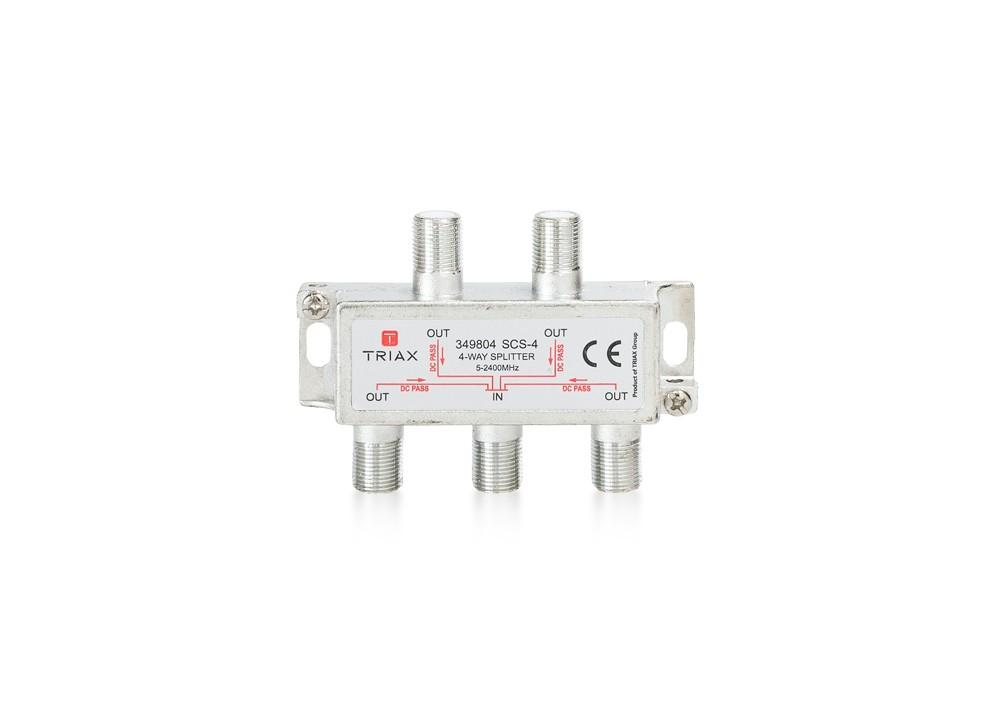 Rozbočovač 1-4 TRIAX SCS - 4 WAY 5-2400 MHz