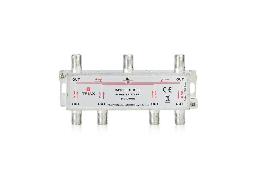 Rozbočovač 1-6 TRIAX SCS - 6 WAY 5-2400 MHz