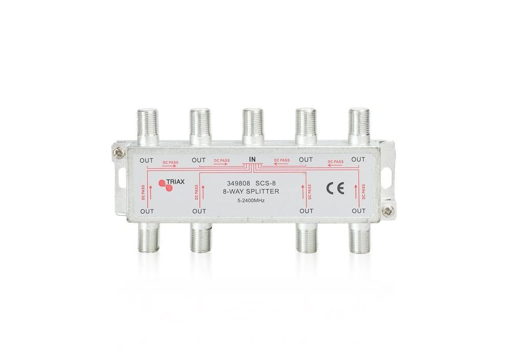Rozbočovač 1-8 TRIAX SCS - 8 WAY 5-2400 MHz