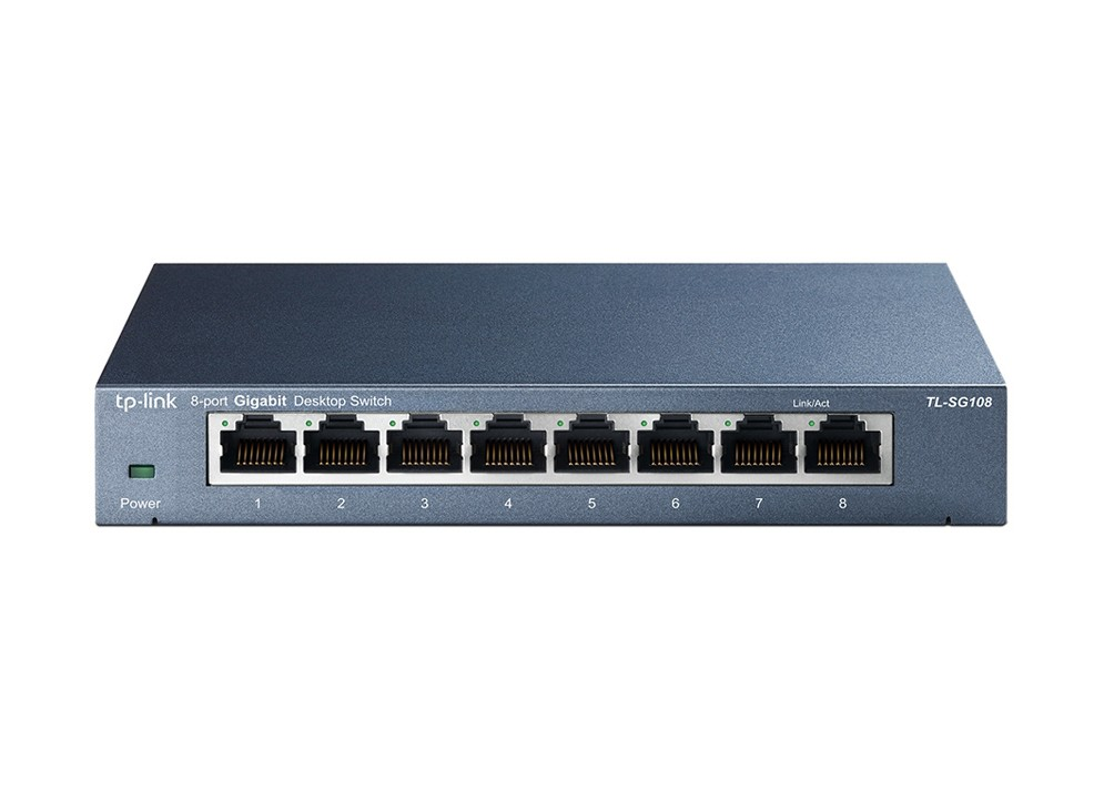 SwitchTP-Link TL-SG108 8-Port/1000Mbps/Desk