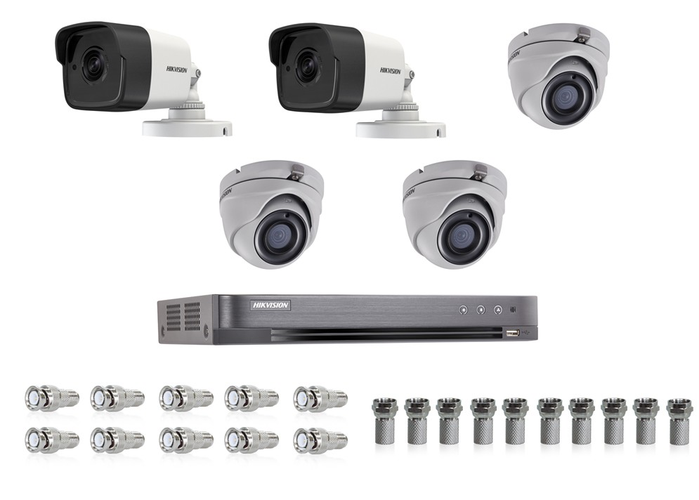 Kamerový set pre 5 HD-TVI kamier