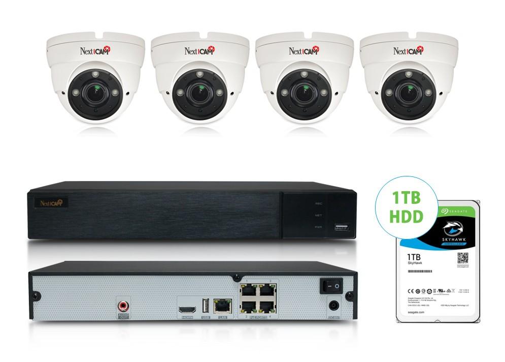 IP Kamerový set NextCAM 4 (4 kamery súčasťou + NVR