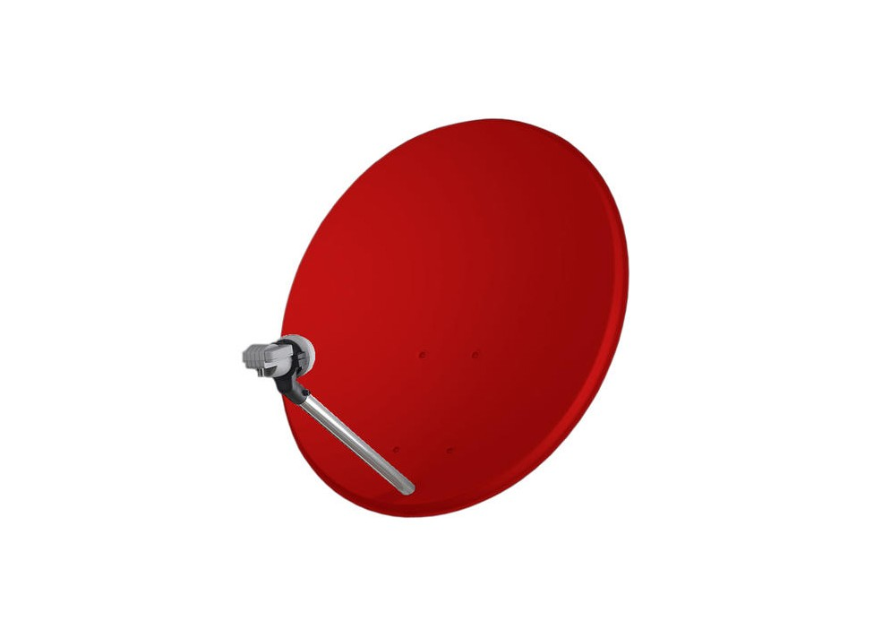 Satelitná parabola Mascom 80 Fe červená